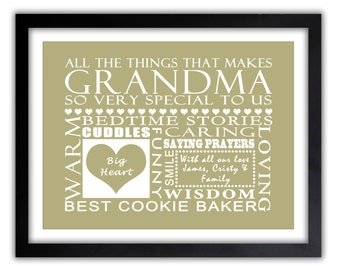 Gifts for Grandparents - Gift For Mom - Mothers day, Gifts for Grandparents, Gifts for Mom, ANY COLOR, Gifts for Grandparents,  Print