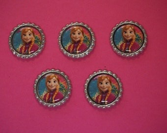 Disney Frozen Anna Finished Flattened Bottle Caps A3