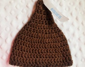 """RESERVED listing FOR SAMANTHA-- Chocolate """"Kisses"""" Hat Baby Photo Prop"""