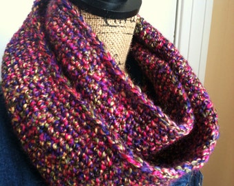 SALE--Christmas Gift Ideas for Her/Fiance/Wife Gift/Sister/Girlfriend/Fiance/Aunt--Women's Multicolor 50 Inch Vertical Stripe Infinity Scarf