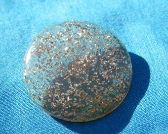 LG Vintage Glitter Button
