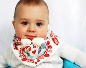 Turtledove Hipster Scarf Bib -- Great Baby Gift or Photo Prop