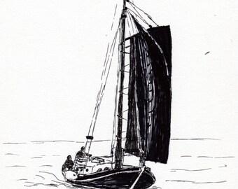 Old dutch sailing ship