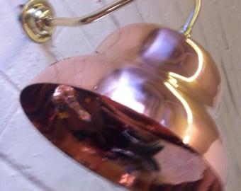 Hand spun pure copper wall lights