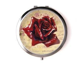 Rose mirror & Organza pouch