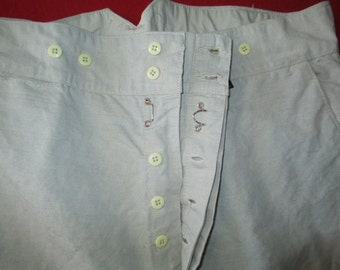 french linen\cotton old style pants