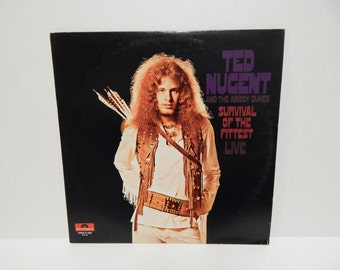 Ted Nugent And The Amboy Dukes Survival Of The Fittest Live Vinyl Record LP