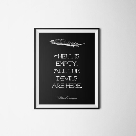Shakespeare Literary Print - Bookish Quote Poster