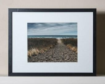 Winter Beach Path, Color Print, 8x10