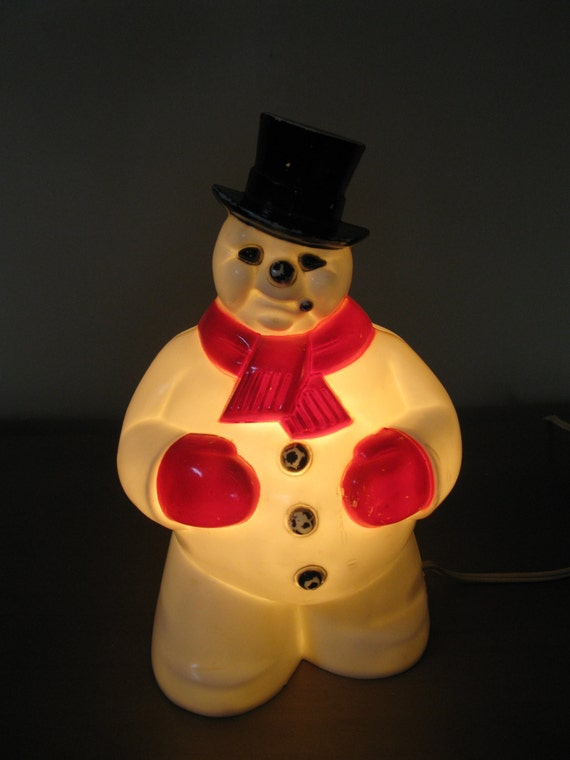 Vintage Lighted Snowman Frosty General Products Co 8