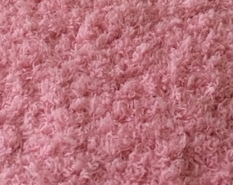 Soft and Cuddly Pink Hand Knit Baby/Toddler Blanket