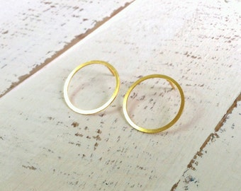 Gold Earrings, Post Earrings, Stud Earrings, Bridesmaid, Everyday Earrings, Gold Earrings, Wedding Jewelry