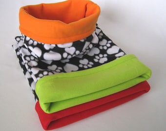 Reversible Cuddle Sack - Small Dog Snuggle Sack, Puppy Bed, Burrow Dog Bed, Dachshund Bed, Doxie Blanket, Chihuahua Bed, Cat Bed