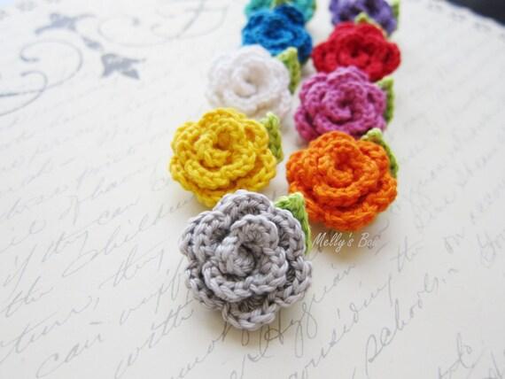 Choose 3 Crochet Rose Lapel Flower Mens Lapel Pin