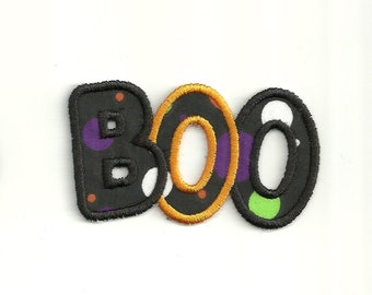 "4"" BOO Halloween Patch! Custom Made! AP119"