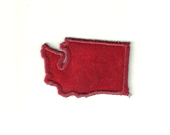 "4"" Washington State Patch! Any Color! Custom Made!"