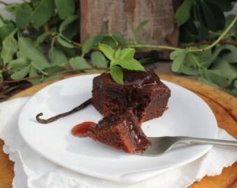 Organic Jam Conserve Sweet Cherry Rhubarb Vanilla Beans Conserve Handmade Small Batch Conserve Fresh Seasonal Organic No Pectin Fruit Spread