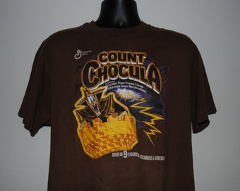 90's Count Chocula Vintage Breakfast Monster Cereal Horror Character T-Shirt