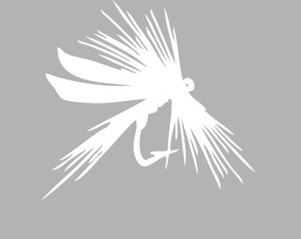 Fly Fishing Decal Sticker -  Tackle Box, Boat, Truck Vinyl Decals | Style 5