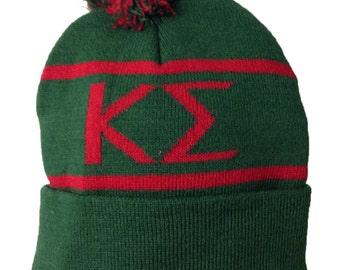 Kappa Sigma Knit Beanie Pom Winter Hat Kappa Sig