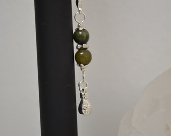 ECIgarette Charm or Zipper Pull New Jade Gemstone Beads with Money Bag Charm Vaporizer Accessories