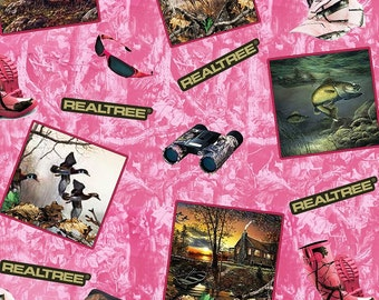 Realtree Pink Cotton Fabric! 3 Options! [Choose Your Cut Size]