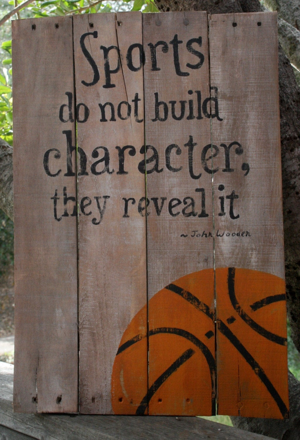 Hand Painted Wooden Basketball Sign Sports Sign Coach S