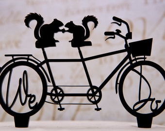 Bicycle For Two Wedding Cake Topper With By