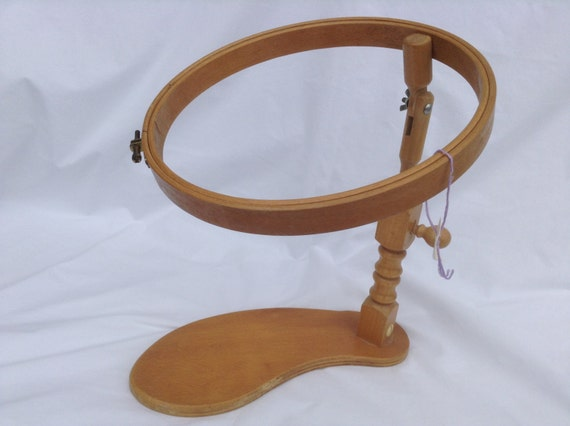 Vintage Embroidery Hoop And Stand