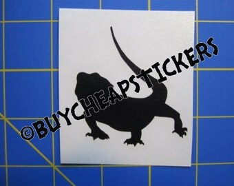 Bearded Dragon Silhouette Decal/Sticker 3X3