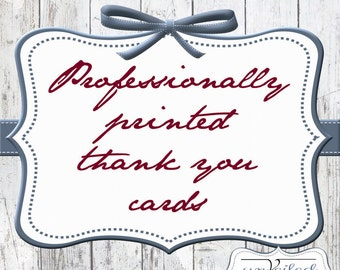 Professionally Printed Thank You Cards