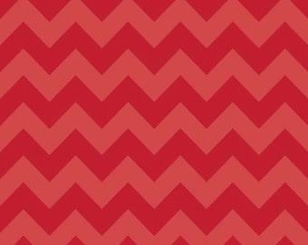 Red Tone on Tone Medium Chevron Fabric by Riley Blake Designs. 100% cotton, Designer Modern Medium Chevron C380-81
