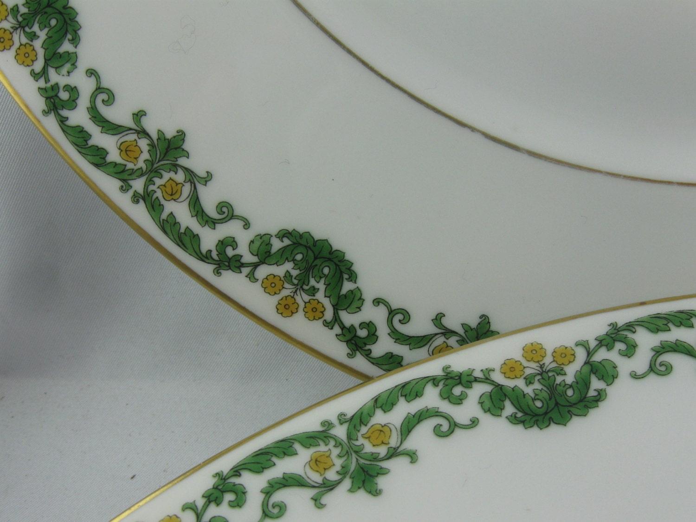 rosenthal kronach bavaria else 2 large porcelain plates. Black Bedroom Furniture Sets. Home Design Ideas