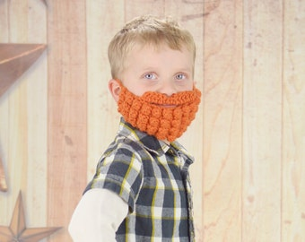 Child's Beard Mask, Toy, Photo Prop, Multiple Beard Colors, Lumber Jack Beard Mask *HANDMADE USA*