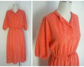 Vintage Coral Terry Cloth...