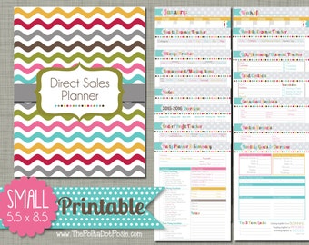 "Direct Sales Planner {Printable} Set - Sized Small 5.5"" x 8.5"" PDF"