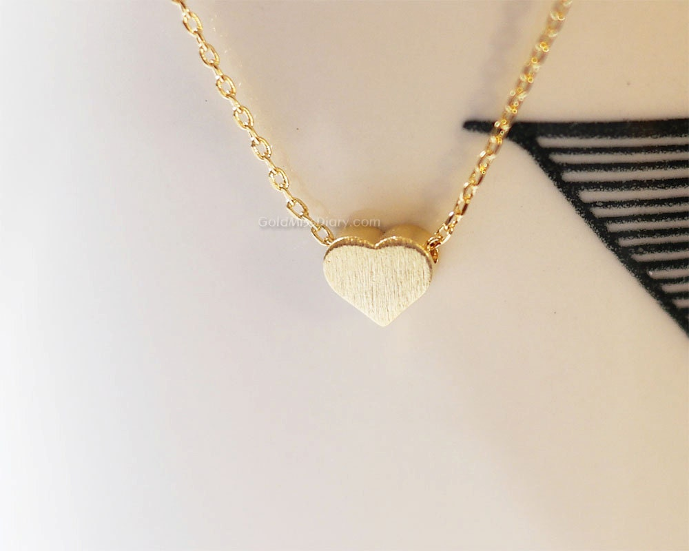 tiny gold heart necklace simple heart necklaces gold heart