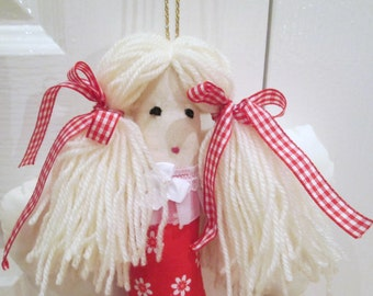 Guardian Angel Rag Doll, Gift for daughter, Gift for Goddaughter, Handmade Cloth Doll, Soft Angel Doll, Gift for Girls