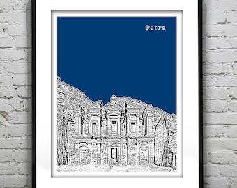 Petra Jordan Skyline Poster Art Print Middle East