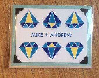 gay wedding card | personalized gay wedding card | gay marriage card | custom gay engagement card | gay anniversary card |