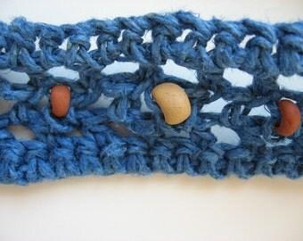 hemp headband with clay beads