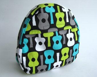 Modern Black Guitar Toddler Backpack - MADE TO ORDER