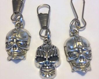 Harley Skulls Charm Zipper Pulls, Boot buckle, jackets, purse and backpacks