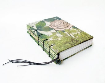 Art Journal, Notebook, Sketchbook - Garden & Rose
