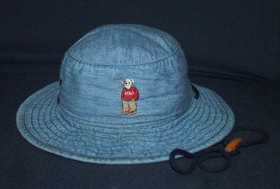 Vintage ralph lauren polo bear bucket hat hunting fishing for Polo fishing hat