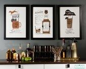 Bar Cart Art, Wall Art, Wall Decor, Man Cave Art, Moscow Mule Letterpress Art Print, Moscow Mule Lover, JJD_LP_MMP