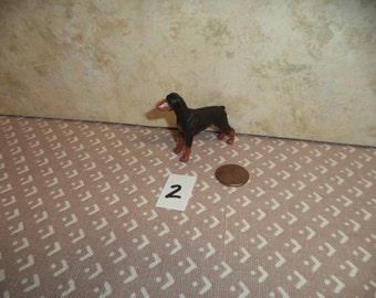 1:12 scale  Dollhouse Miniature dogs 3 to choose