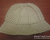 Crochet Safari hat - size baby-child