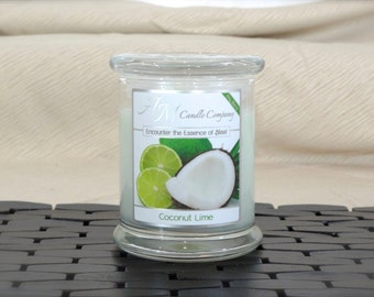 Coconut Lime - Highly Scented Soy Candles by AM Candle Company