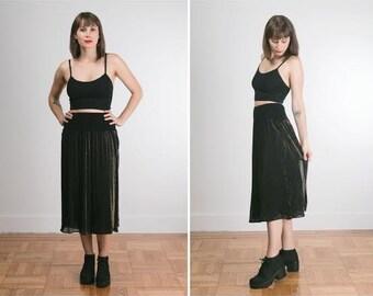 Vintage Sheer Shimmer Witchy Long Skirt